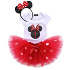 Baby Girl First 1st 2nd Birthday Minnie Mouse Outfit Party D