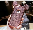 for iPhone X Xs XR XS MAX cell Phone 6 6S 7 8 Plus Cover Mickey Ear Plating Case