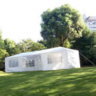 9.8'x29' Outdoor Canopy Party Wedding Tent White Gazebo Pavilion 5/8 Side Walls