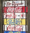 Handmade Retro Soda Crate Coat Hooks Coca Cola Pepsi 7up Dr Pepper Vintage 60s £8.0  on eBay