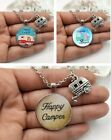 Happy Camper - Handcrafted Pendant Necklace With Camper Charm