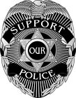Thin Blue Line Decal - BACK THE BLUE Black White Gray Design - Various Sizes