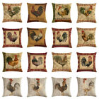 Cushion Cover Animal Cotton Linen Chicken Home Decor Car Sofa Throw Pillow Case image