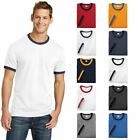 Retro Ringer Tee Short Sleeve Cotton Mens Classic Style T-Shirt Plain T PC54R image