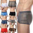 Supply new men's ice silk breathable hollow ultra-thin sexy boxer briefs