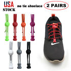 2 Pairs Easy Shoe Laces No Tie Shoelaces Tieless Lock For Kids And Adult Elastic