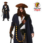 Mens Pirate  High Seas Voyager Costume Adults Caribbean Halloween Fancy Dress