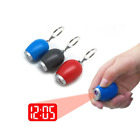 Electronic Mini Digital LED Projection Time Clock with Keyring Red Light Wall