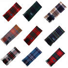 Scottish Pure Lambswool Tartan Clan Scarf In Various Colours