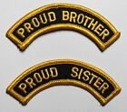 Proud Sister Brother Embroidered Iron On Patch - Military Marines Army 007-V