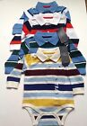 Tommy Hilfiger striped baby boys body suit  baby grow long sleeves 3-6,6-9,12m