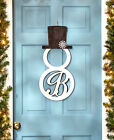 Внешний вид - PERSONALIZED Monogram Snowman Front Door Hangers Wall Decor 15 Letters Initials