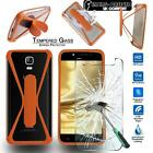 Tempered Glass Screen Protector + silicone bumper Stand Case for UMi SmartPhones