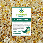 GardenersDream No Mess Seed Mix - Premium Quality Husk-Free Wild Bird Food
