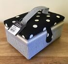 SEWING BOX BASKET DOTS & STRIPES Small & Large Available SUPER QUALITY