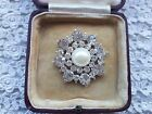 Silver diamante pearl brooch pins pin wedding vintage bouquets cakes shoes
