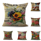 Letter Bird Flower Throw Pillow Case Home Decor Cushion Cover Square