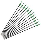 12pcs Archery Hunting Carbon Arrows Black Quiver Gift For Compound Recurve Bow S