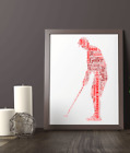 Golfer Gift - Golf Word Art Print - Personalised Word Art - All Your Own Words