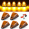 5x Amber LED Roof Cab Marker Clearance Top Light Lamp+Wring Pack for Ford F-150