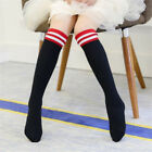 Plain Striped High Thigh Over Knee Socks Long Cotton Stripe for Kids Stockings