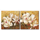 Canvas Prints Painting Picture Home Decor Wall Art Landscape Floral Brown Framed