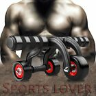 Quiet 3-Wheel Fitness Abs Wheel Roller Abdominal Workout Muscle Exercise UM
