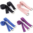 2x 6FT Yoga Strap Belt Adjustable Metal D-Ring Stretching Physical Therapy UK