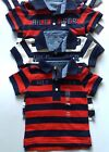 Tommy Hilfiger baby boys cotton polo Tshirt striped 3-6,6-9,9-12,12-18m red,navy
