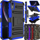 For iPhone XS Max/XS/XR Shockproof Clip Slim Armor Holster Hybrid Case Cover