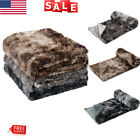 Luxury Home Bed Sofa Blanket Faux Fur Fleece Blanket Throw Soft Warm Winter US image