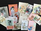BB69 Lot of 15 Adorable VINTAGE THANK YOU GREETING DIE CUTS for crafts making