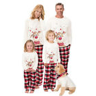 Внешний вид - Family Matching Christmas Pajamas Set Mom Dad Baby Kids Deer Sleepwear Nightwear
