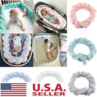 2M Baby Infant Crib Bumper Comfy Braid Plush Bed Nursery Bedding Cot Protector