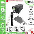 Lumii Black Magnetic Grow Light Kit - 600w Lamp   600w M Ballast   Reflector