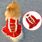 Classic Red Christmas Dog Clothes Santa Doggy Costumes Clothing Pet Apparel