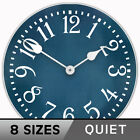 Colonial Blue Silent, Ultra Quiet Rustic Wall Clock Non Ticking