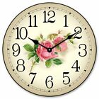 Rose Wall Clock, Whisper Quiet, Comes in 8 sizes