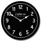 New Traditional Black Wall Clock Whisper Quiet , Non ticking Battery Operated