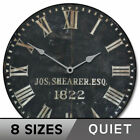 1822 Old Sheriffs Vintage  Wall Clock Ultra Quiet Non ticking Classical Decor