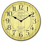 Harbor Yellow Wall Clock Whisper Quiet , Non ticking  Battery Operated Home Deco