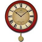 Galway Red Pendulum Vintage Wood  Wall Clock Ultra Quiet Home Decor