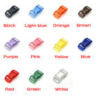 """3/8""""Jelly Clear Colorful Curved Side Release Mini Buckles For Paracord Bracelet"""