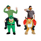 Shoulder Carry Ride On Piggy Back Fancy Dress Costume Outfit Mens Ladies Party