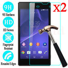 2PCS 9H Tempered Glass Screen Protector Guard For Sony Xperia C3 C5 C4 M2 M4 M5