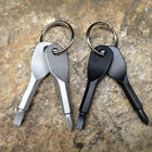 Pocket Outdoor Tool EDC Screwdriver Stainless Steel Keychain Key Ring Multi Tool