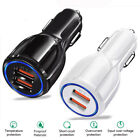 Fast Charge 3.0 Dual USB Fast Charging Car Charger Cigarette Lighter Adapter