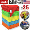 Microfiber Cleaning Cloth Set of 25 Towel Rag Car Polishing No Scratch Detailing
