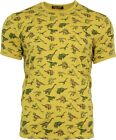 Mens Run & Fly Gold Vintage Retro Kitsch Jurassic Dinosaur T-Shirt