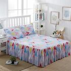 Bed Skirts New Style Floral Flower Yellow Mattress Cover Home Hotel Decoration image